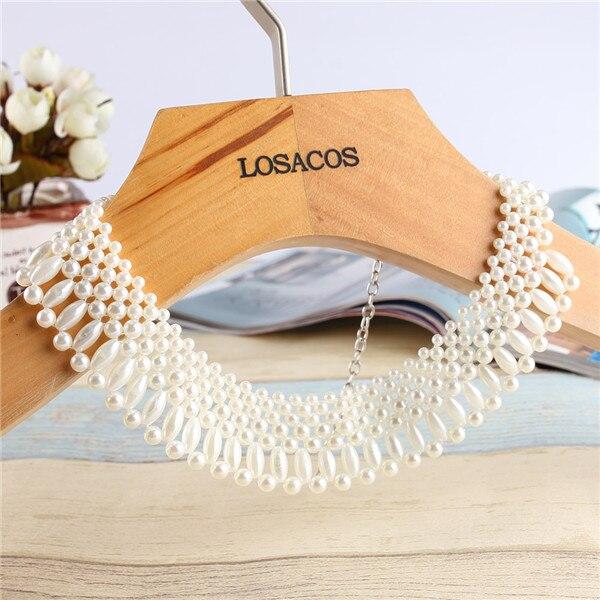 16 Styles Fashion Imitation Perle Marke Designer Bib Kragen Halsband Halskette Schmuck Für Frauen Hochzeit Partei