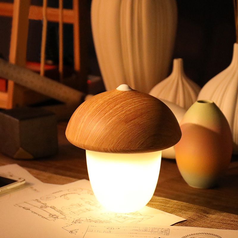 Decorative Desk Lamp USB Rechargeable Mushroom Olive Acorn Dimmable LED Light Touch Switch Reading Table Lamps Night Light led reading table lamp modern creative touch switch 5500k rechargeable night light octagon desk lamps usb learning