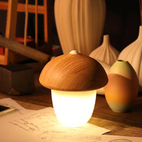 Decorative Desk Lamp USB Rechargeable Mushroom Olive Acorn Dimmable LED Light Touch Switch Reading Table Lamps Night Light