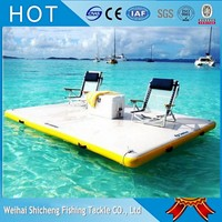 High quality white&yellow inflatable in water/giant pool floats