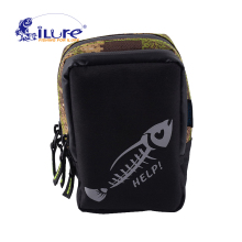 iLure waterproof multifunctional 17.4*13.5*7 cm canvas bag carp fishing equipment roll lure bag bagpack camouflage tool Pesca