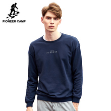 AWY702445 パイオニアキャンプシンプルなスウェット男性ブランド服のカジュアルな手紙トラックスーツ男性トップ品質パーカー男性ダークブルー