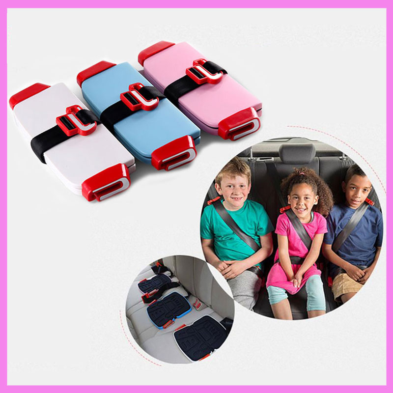 Quality Mini Folding Baby Kids Car Vehicle Safety Seat Booster Cushion Pocket Portable Child Car Safety Harness Seat 3-12 years biety vehicle car seat head neck rest cushion pillows grey 2pcs