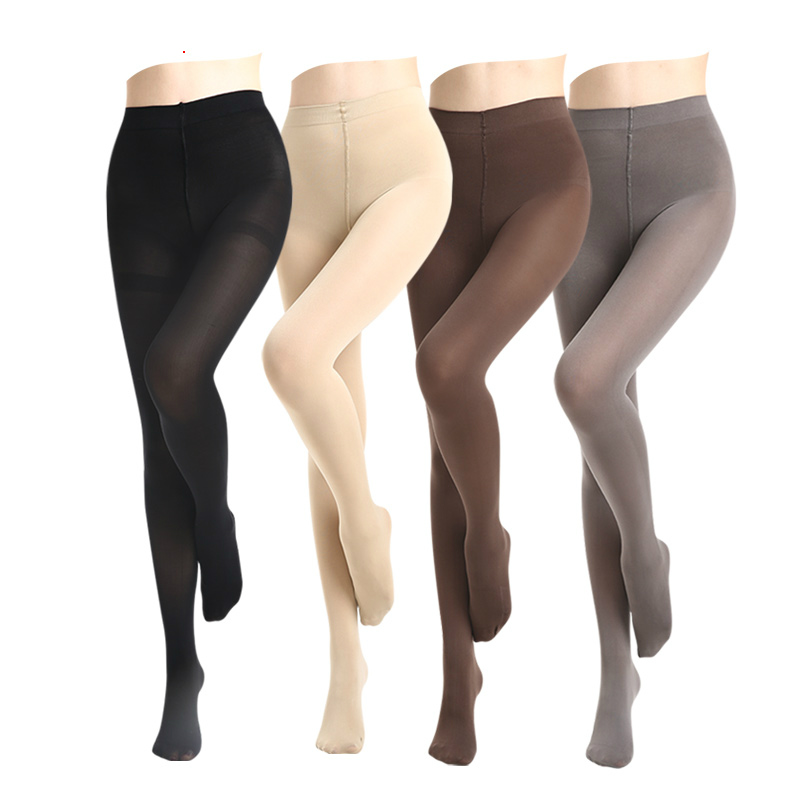 HSS Super Elastic Velvet Pantyhose Women 120D Winter Warm Velvet Thick Tights Anti-hook Large Yards Thicker Collant Stretchy