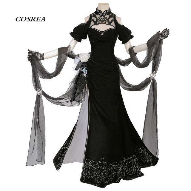 8732b5bdf084 COSREA HOT Game NieR Automata Figure 2B Cosplay Costume Fancy Cheongsam  CostumesHalloween Party For Women Free shipping