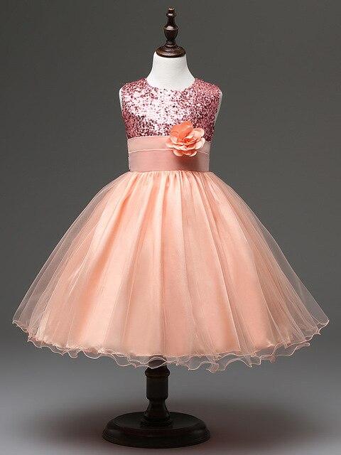 Fashion party kleid kinder prom champagner mädchen kleider mädchen ...