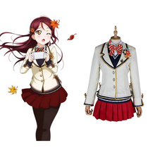 купить Love Live Sunshine Cosplay Sakurauchi Riko Cosplay Costumes Uniform Outfit Anime Cosplay Costume Halloween Carnival Cosplay дешево