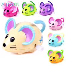 1Pcs Random Color Chain Toys Baby Cartoon Animal Mouse&Lucky Chick&Running Deer&Swing Giraffe For Children Colorful
