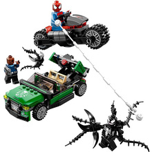 New Superheroes Avengers Spiderman Bike Rescue Compatible Marvel Endgame Figures Building Blocks 76004