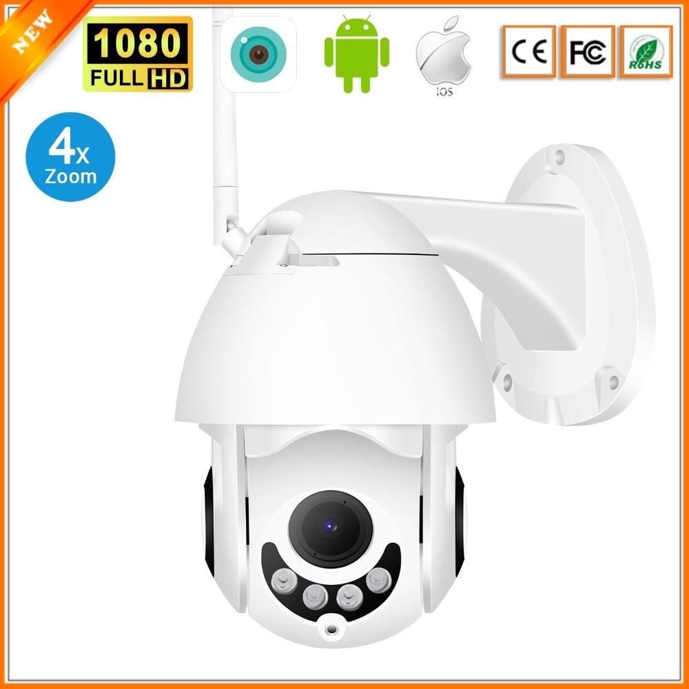 1080P PTZ Outdoor Speed Dome IP Pan Tilt 4X Zoom IR Network Security Cameras HD