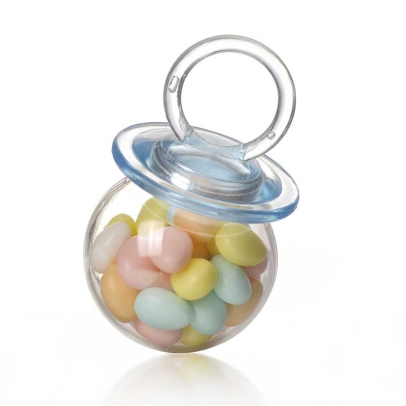 12 Pièces Mamelon Forme Bonbons Boîtes Bébé Douche Cadeau Pour Enfants De Mariage Décoration Boîte De Bonbons Fête D'anniversaire En Plastique Boîte Fête Décor Chaud