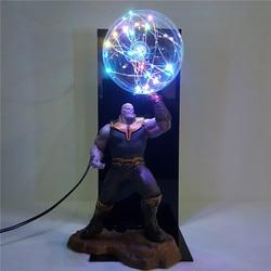 Avengers 4 Endgame, lámpara Led Thanos guantelete, lámpara de noche con bombilla de Flash Infinity War, lámpara de mesa LED para dormitorio de niños MY1