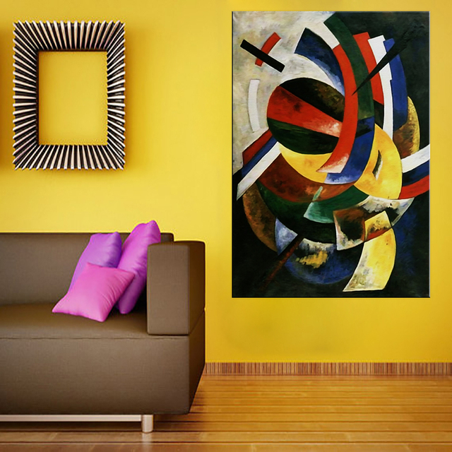 Large size Printing Oil Painting blue black red 1918 Wall painting ...