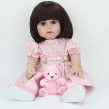 Новый 40 СМ девушка кукла reborn/принцесса возрождается младенцы полный силиконовые тела bonecas bebe menina детская toys подарок на день рождения