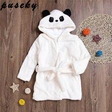 1dee7efaba Puseky 0-6Y Children Robes Animal Boys Girls Flannel Pajamas Sleepwear Baby  Bathrobe Romper Kids HomeWear Pjamas Cloak 2-5Y