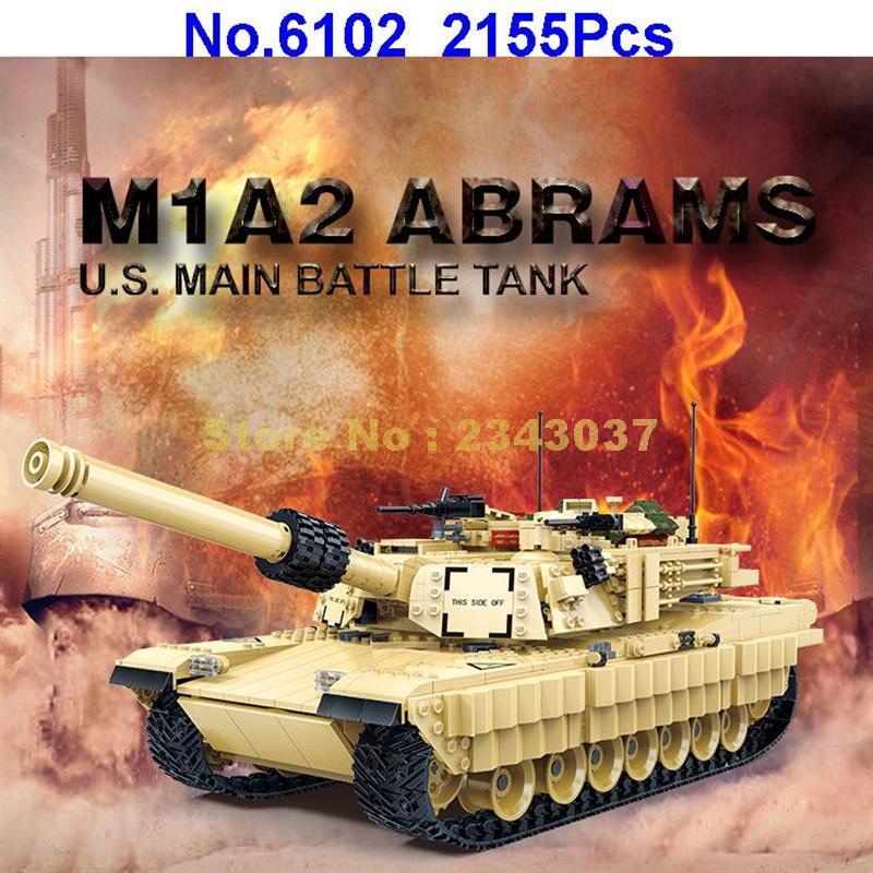 グディ 6102 2155 個軍 m1a2 戦車 ww2 兵士エイブラムス軍戦争ビルディングブロックおもちゃ  グループ上の おもちゃ & ホビー からの ブロック の中 3