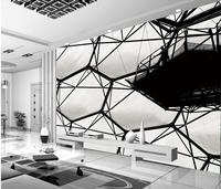 3d wallpaper for room Black and white water cube murals living 3d wallpaper customized wallpaper for walls