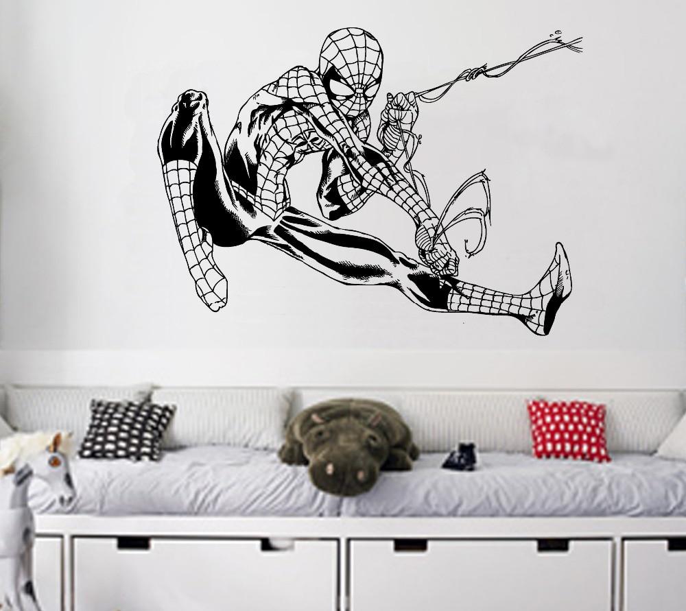 spiderman wall art stickers sticker creations online get spiderman wall art stickers aliexpress com