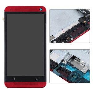 Image 4 - Pantalla LCD para HTC One M7 801e, pantalla táctil de 4,7 pulgadas, montaje de digitalizador con Marco, 1 año de garantía