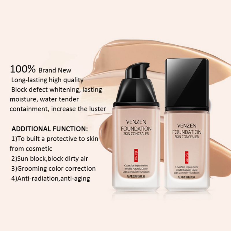 Whitening Concealer Liquid Face Concealer Cream Foundation Makeup Corrector Eye Dark Circle Base Makeup Mineral Cosmetic New in Concealer from Beauty Health