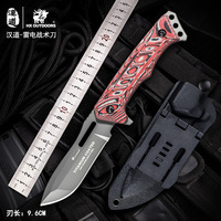 HX Outdoors Carving Knife Camping Hunting Knives Survival Tactical Counter Strike Couteau TOP Knife Navajas Red G10 Handle 58HRC