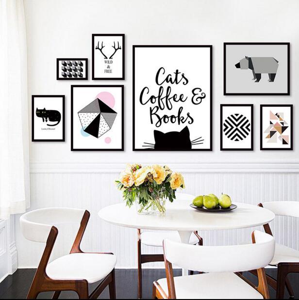 Скандинавские Mordern настенные украшения для гостиной, настенные подвесные креативные виниловые записи, украшения с изображением животных, н...