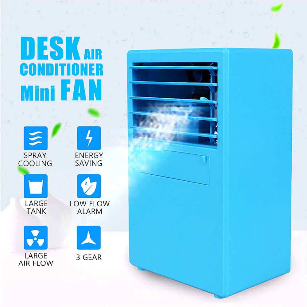 2018 Mini Desktop Air Conditioner Fan Cooling Humidifying Air Cooler Blue/White Ventilador Portable Strong Wind Fan In Stock самокаты скейты и ролики strong sm solid white air blue