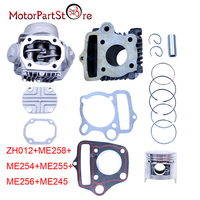 For HONDA CRF50 XR50 Z50 CL70 S65 PISTON CYLINDER HEAD KIT 50cc REBUILD PISTON KIT