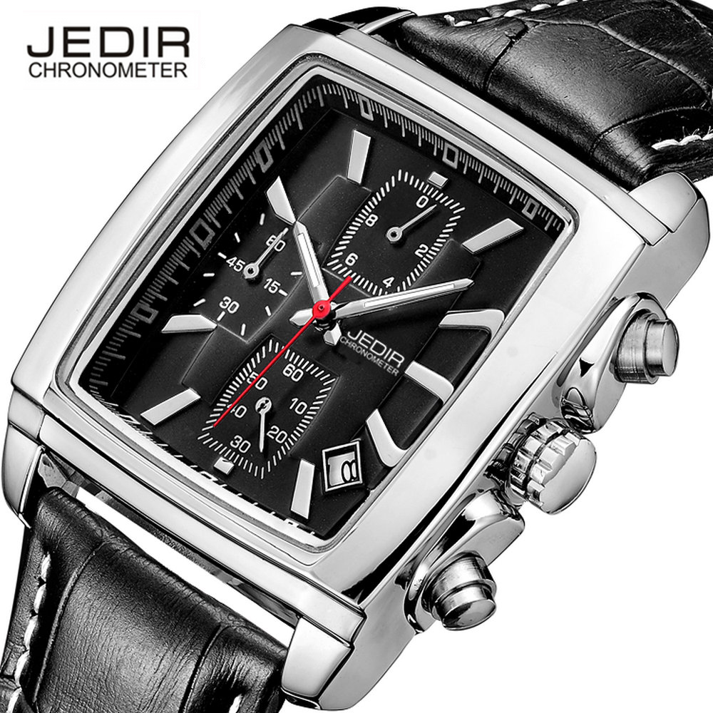 JEDIR Chronograph Sport Mens Watches Top Brand Luxury Famous Male Clock Quartz Watch Military Leather Relogio Masculino gift box jedir chronograph sport mens watches top brand luxury famous male clock quartz watch military leather relogio masculino gift box