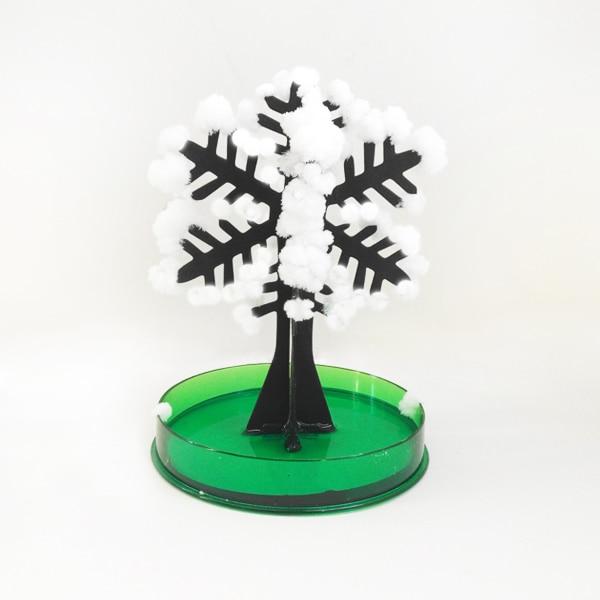 2019 12x8 centímetros Branco DIY Árvore Do Floco De Neve de Papel Mágicos Crescendo Grow Mágica Vibração Árvores de Natal Dos Flocos De Neve Flocos de Japão brinquedos dos miúdos