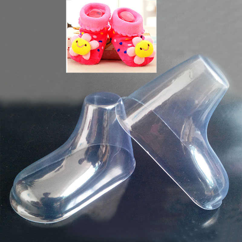 20 Pcs/lot Plastic Foot Model Sock Molds Paste Baby Fondant Booties Mould Extrusion Display Gift Shoes Packaging