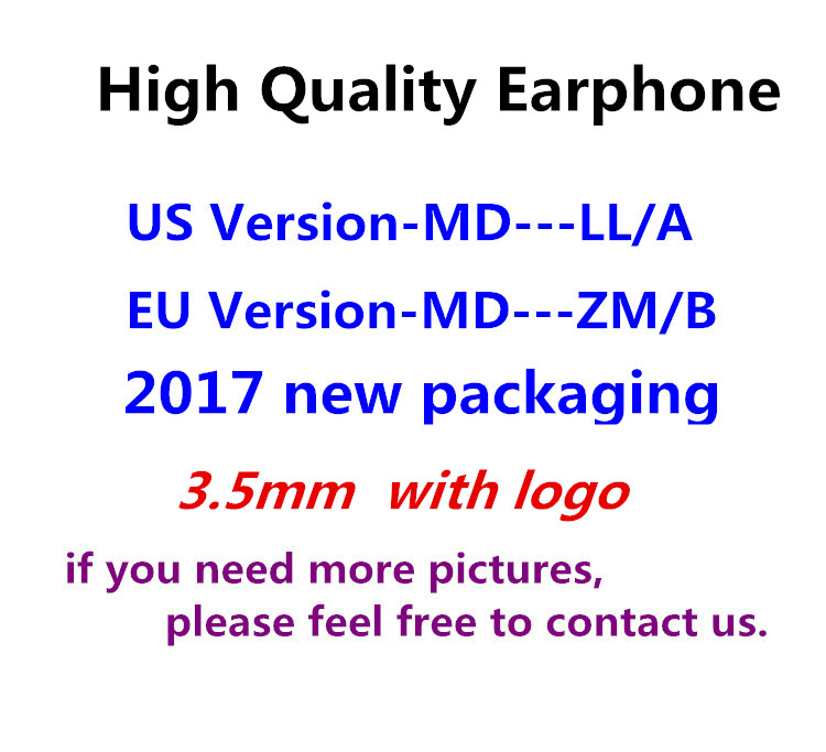50pcs lot With packaging Original Quality headset in ear headphones earphone 3 5mm With Remote Mic