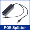 GADINAN 10/100 Mbps Power over Ethernet Splitter 48 V y 12 V salida de 15 W 48 V PoE Splitter Soporte Adaptador para CCTV IP cámara