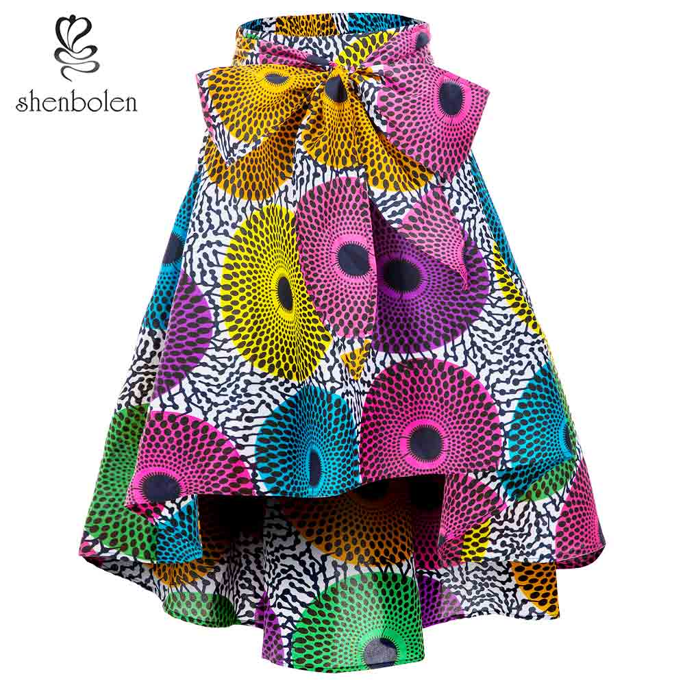 African Clothes For Women Skirt Fashion African Traditional Clothes Skirt Flower Print Casual Dashiki Skirt Print Wax Skirt