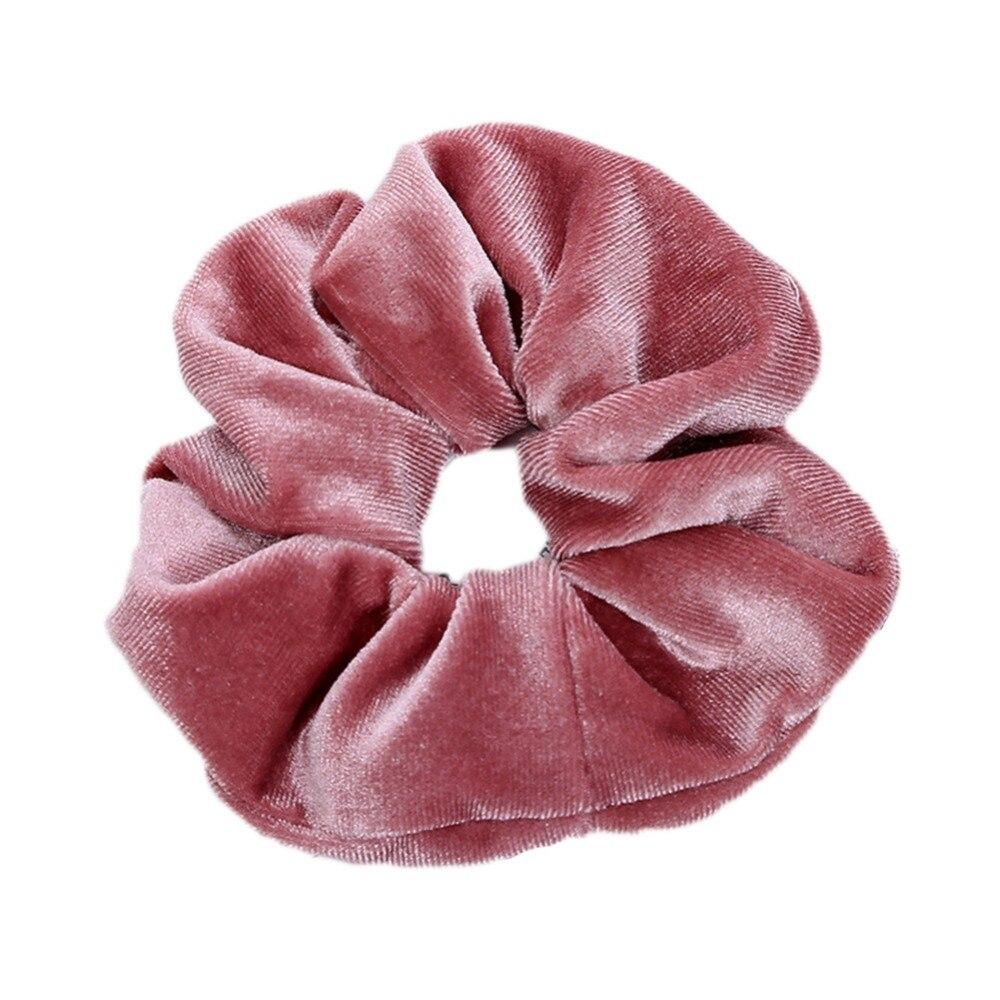 1 adet moda yumuşak kadife büyük elastik saç halat Scrunchies kadınlar kızlar için tatlı düz saç bantları bağları toka saç aksesuarları