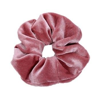 1Pc de moda de terciopelo suave de gran goma elástica para el pelo gomas para mujeres niñas dulce cintas lisas para el pelo lazos accesorios para el cabello de goma