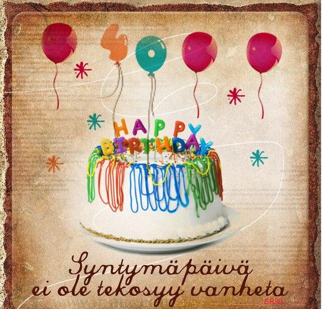 Happy Birthday Cake Balloon Pattern Photography Backdrops Party