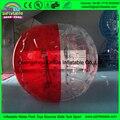Половина красная, а половина прозрачный человеческого бампер мяч для детей, играющих в интересные игры в футбол
