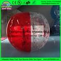 Metade vermelha e metade transparente bumper humano bola para as crianças que jogam interessante jogo de futebol