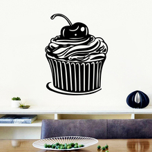 Hot Sale Cake Wall Stickers Self Adhesive Art Wallpaper Waterproof Decals Background Decal