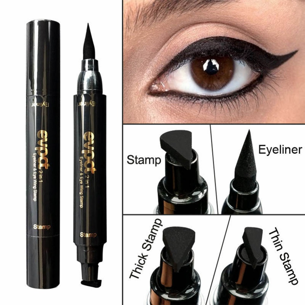 Beauty Essentials Eyeliner Useful Double End Seal Liquid Eyeliner Pencil Quick Dry Waterproof Wing Eye Liner Stamp Eye Pencil Makeup Tools Maquiagem #260473