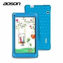 El mejor regalo de 7 pulgadas Niños Tablets PC 8 GB + 1 GB Aoson M751 Android 5.1 de Cuatro Núcleos IPS Pantalla Tablet Educación Dual Cámaras WIFI Babypad