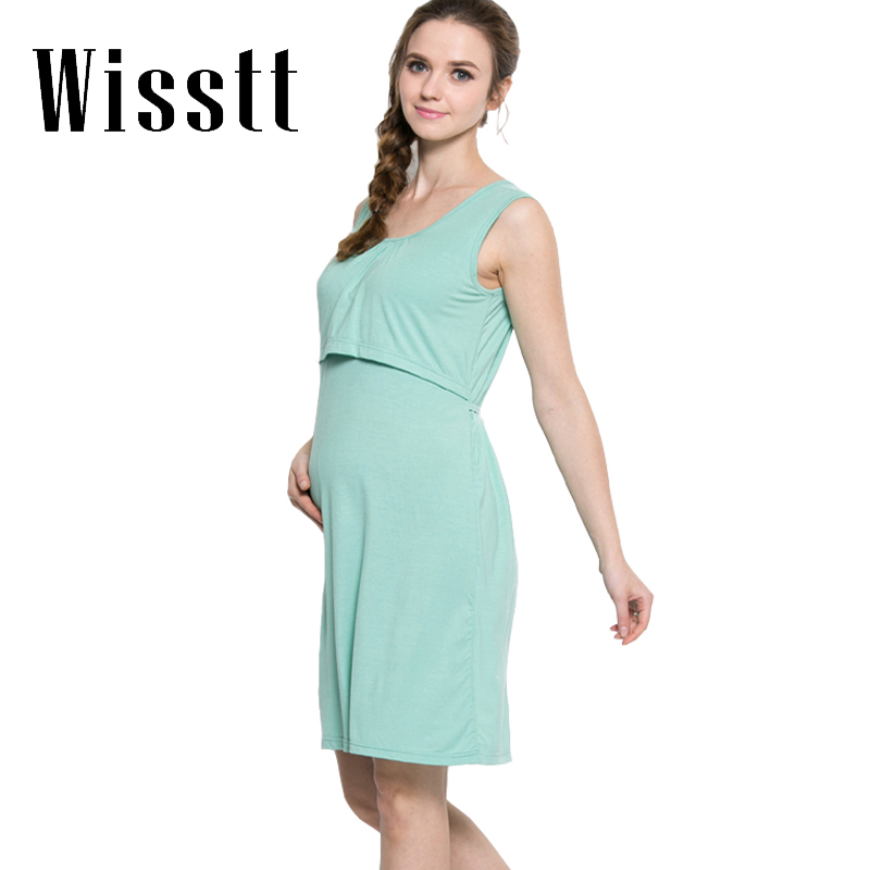 Maternity Dresses Modal Breastfeeding Clothes Nursing Dress For Pregnant Women Pregnant  ...