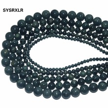 Wholesale Natural Stone Green Sparrow Round Loose Beads For Jewelry Making DIY Bracelet Necklace Material 4/6/8/10/ 12 MM Strand