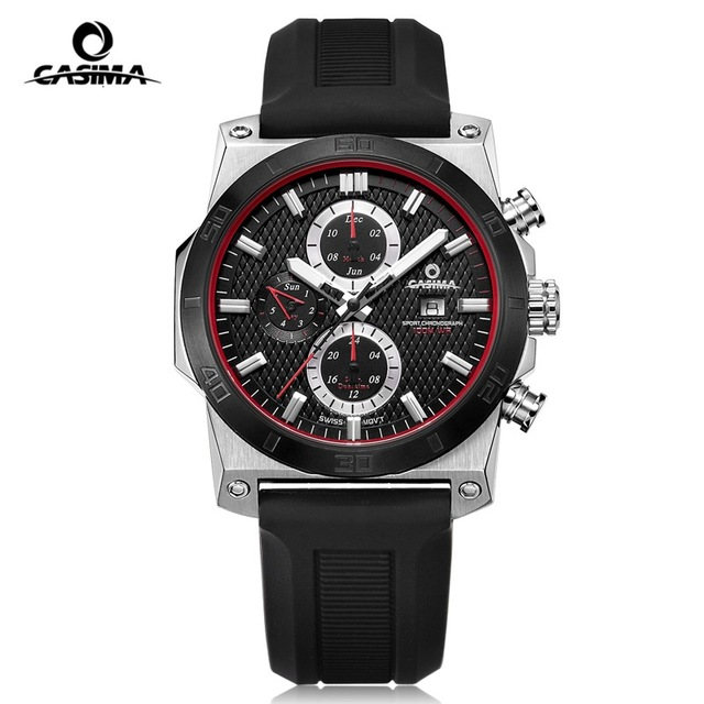 CASIMA Fashion Brand Sport Quartz Watches Men reloj hombre Casual Silicone band 100m Waterproof Men Watch Male montre homme kids watches children silicone wristwatches doraemon brand quartz wrist watch baby for girls boys fashion casual reloj