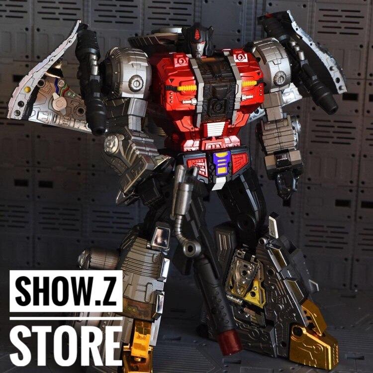 все цены на [Show.Z Store] GigaPower HQ-04R Chrome Version Graviter Gravitas MP Sludge Masterpiece Transformation Action Figure онлайн