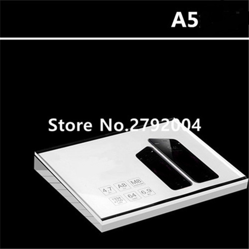 New Style A5 Acrylic Price Tag Stand For Phone Retail Store Display 21*15cm