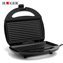 Нержавеющая сталь домашний офис сэндвичница машина тостер со съемной антипригарной пластиной Электрический гриль 750 Вт ЕС вилка
