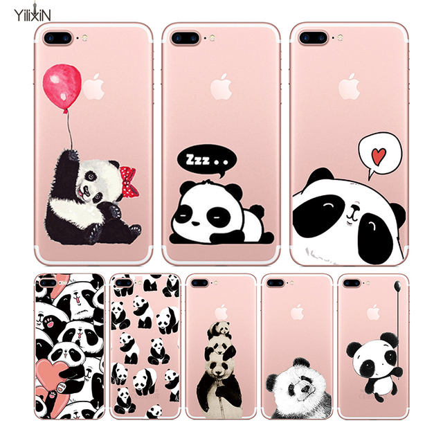 US $2 89 |Cute Cartoon Panda Soft TPU Case For Apple iphone 6 6s 6plus  Fundas iphone 7 7plus Soft Silicone Animal Phone Cases Back Cover on