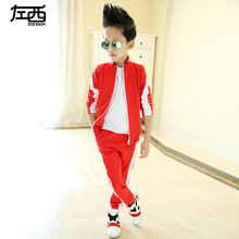 2016 spring new in male child casual sports set child boy twinset sportswear clothing set